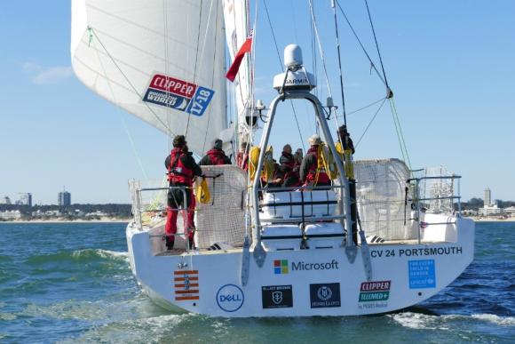 Zarpan hoy: veleros emprenden segunda etapa de la regata mundial. Foto: R. Figueredo