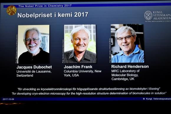 Nobel de Química 2017. Foto: Reuters
