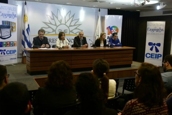 Florit, Buzzetti, Netto, Hughes y Brechner en conferencia de prensa. Foto: Fernando Ponzetto.