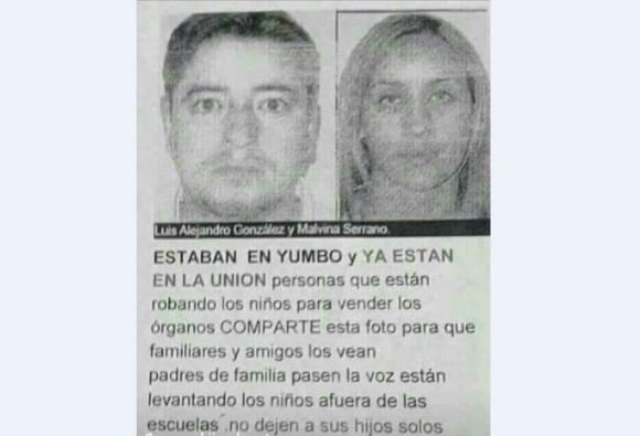 Rumores sobre secuestros,