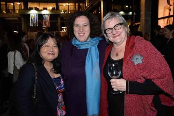 Embajadora de Japón Keiko Tanaka, Embajadora de Israel Nina Ben-Ami, Embajadora de Canadá Joanne Frappier.