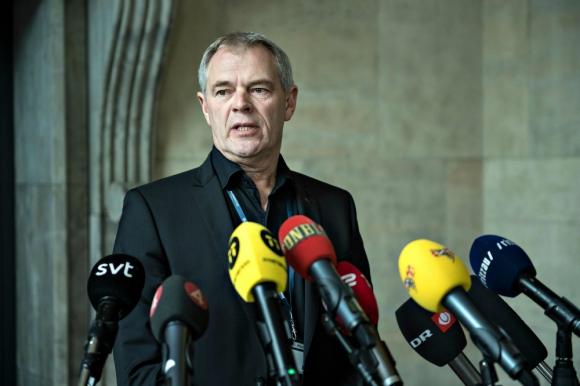 Jens Møller Jensen, jefe de la investigación policial sobre la muerte de Wall. Foto: AFP.