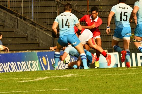 """Uruguay """"A"""" vs. Tonga """"A"""". Foto: Gerardo Pérez."""