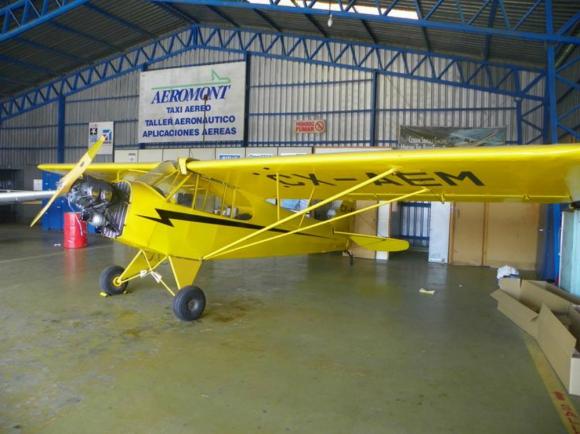 La avioneta que cayó era modelo Piper J3. Foto: Fuerza Aérea