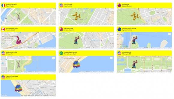 Los lugares donde pueden verse las obras de Koons