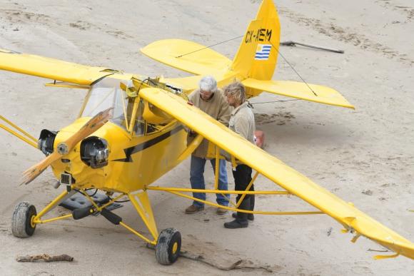 La avioneta accidentada. Foto: Ariel Colmegna.