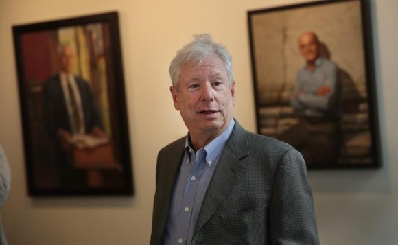 La Real Academia Sueca de Ciencias anunció que Richard Thaler era el ganador. Foto: AFP