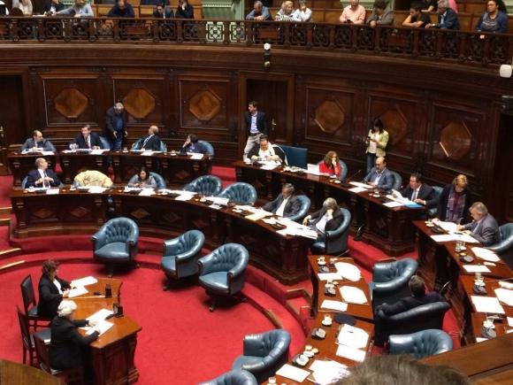 El Senado debate por el subsidio a Sendic. Foto: Bruno Scelza