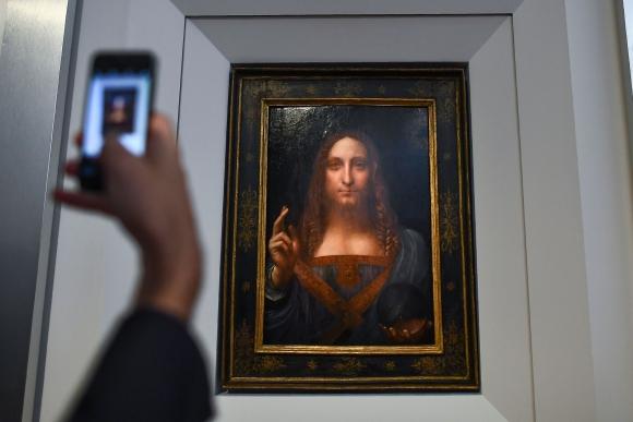 La obra de 65 cm por 45 cm  es un óleo pintado aproximadamente en el año 1500. (Foto: AFP)