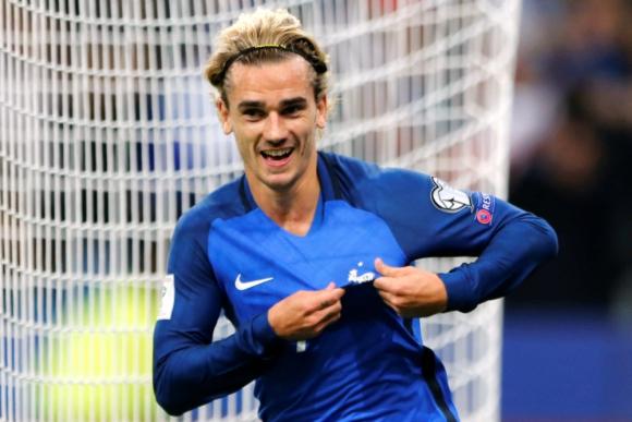 Griezmann celebra su gol para Francia ante Suiza. Foto: Reuters