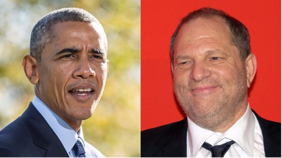 Barack Obama y Harvey Weinstein