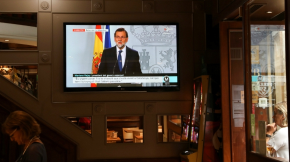 El mandatario español da los pasos previos para aplicar el artículo 155. Foto: Reuters.