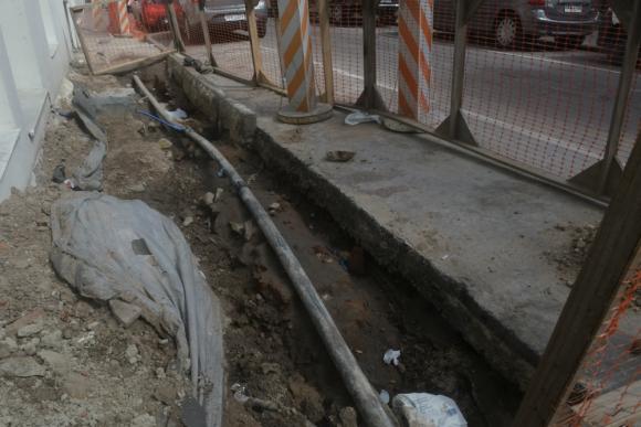 Obras en la Plaza Zabala. Foto: Francisco Flores.