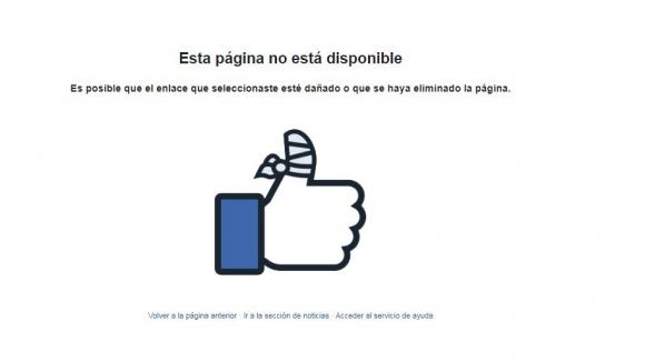 Fallas en Facebook e Instagram. Captura de pantalla