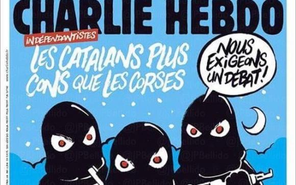 Charlie Hebdo se burla de los independentistas. Foto: Twitter @aschapire