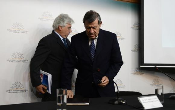 """Nin y Aguerre aseguraron que """"nunca hubo comunicación oficial de la medida"""". Foto: M. Bonjour"""