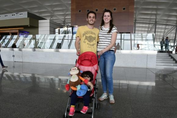 Maxi Albornoz, Thalia Vázquez, Candelaria Albornoz.