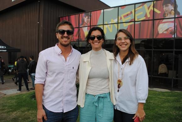 Sebastián Frade, Daniela Cash, Florencia Gimeno.