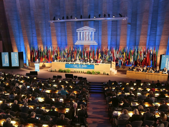 Conferencia general de la Unesco en 2015. Foto: AFP.