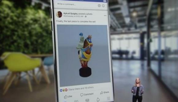 Nuevo Facebook 3d. Foto: Captura