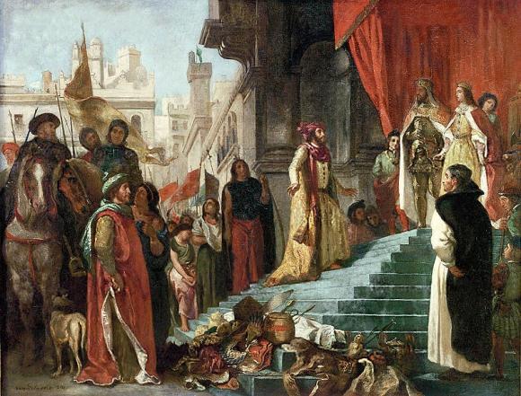 El regreso de Cristóbal Colón por Eugene Delacroix
