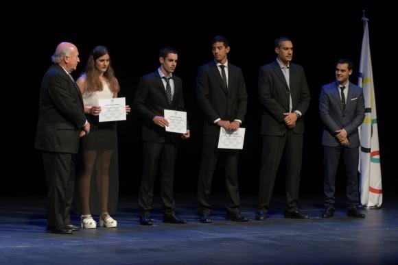 Premios del Comité Olímpico Uruguayo. Foto: Francisco Flores.
