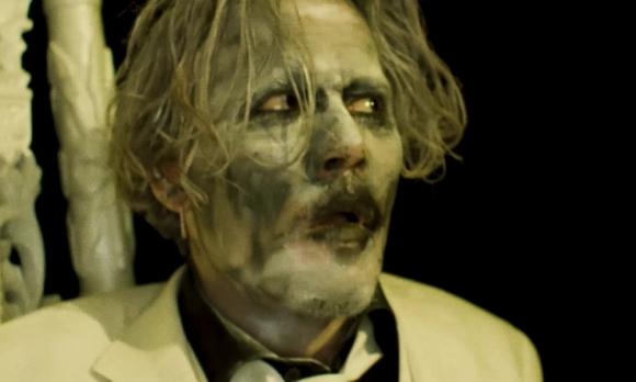Johnny Depp en el video de Marilyn Manson. Foto: difusión