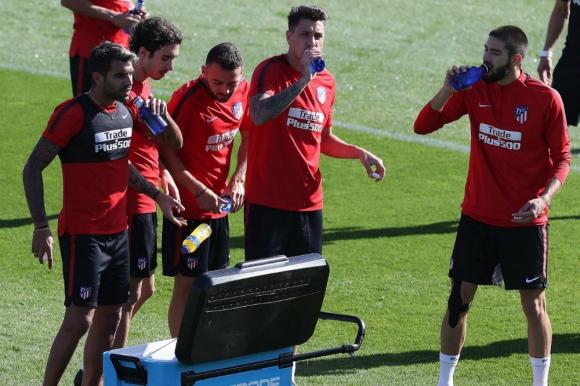 José María Giménez en el entrenamiento del Atlético de Madrid. Foto: EFE