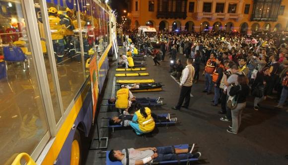 Simulacro en Perú. Foto: GDA/El Comercio