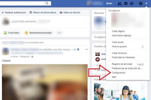 Respaldo de datos en Facebook. Foto: Captura