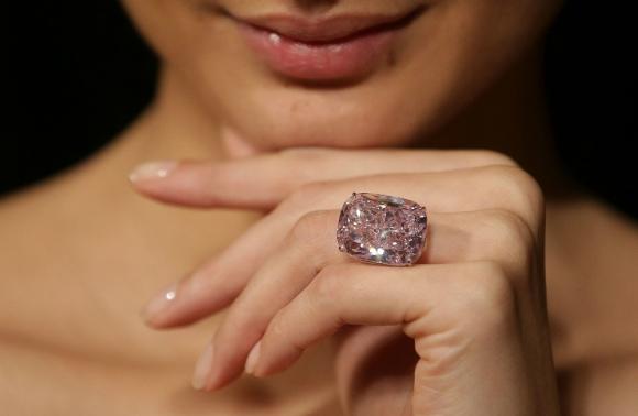 Diamante rosado. Foto: AFP
