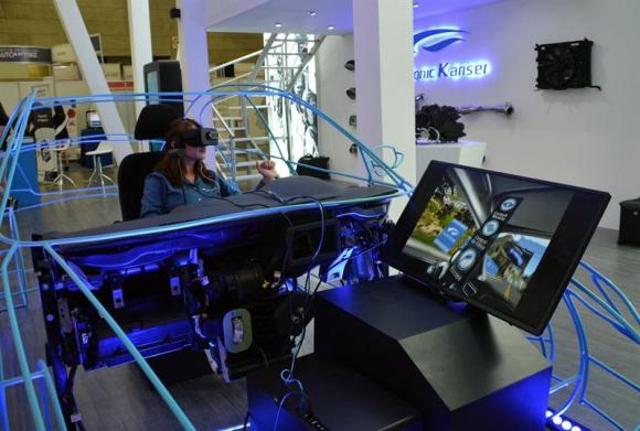 La realidad virtual fue la sorpresa del evento. Foto: EFE