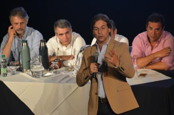 "Lacalle Pou: criticó el ""derroche"" y la falta de transparencia de ASSE. Foto: V. Rodríguez"
