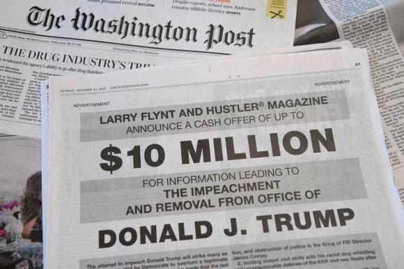 Aviso en Washington Post. Foto: AFP