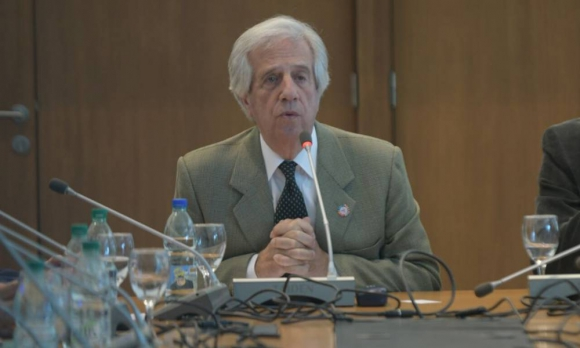 Tabaré Vázquez en la Conferencia Mundial sobre las Enfermedades No Transmisibles. Foto: Francisco Flores