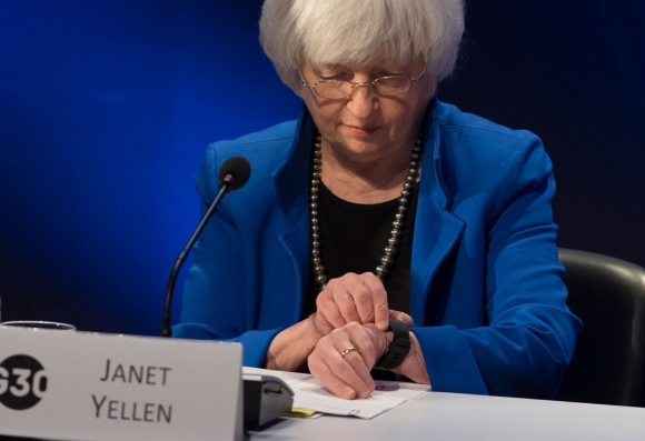 Janet Yellen, presidenta de la FED. Foto: AFP