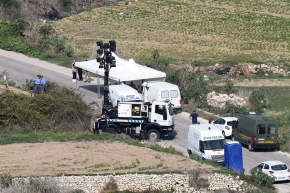 Vista general del lugar donde falleció la periodista maltesa. Foto: EFE