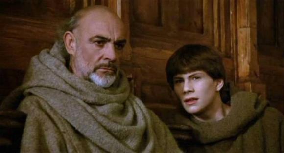 """Sean Connery y Christian Slater en """"El nombre de la rosa"""""""