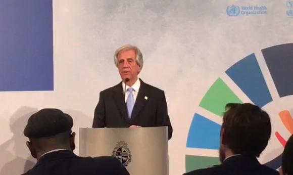 Tabaré Vázquez en Conferencia Mundial sobre Enfermedades No Transmisibles