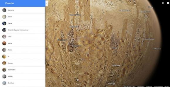 Vista de Marte desde Google Maps. Foto: Google Maps