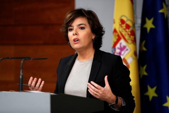 Soraya Sáenz de Santamaría, vicepresidenta del gobierno español. Foto: Efe.