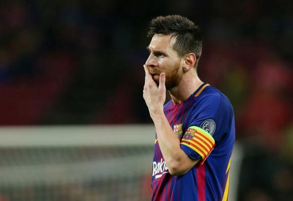 Lionel Messi durante el partido de Champions League de Barcelona. Foto: Reuters