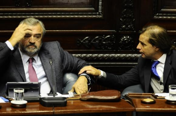 Larrañaga y Lacalle Pou atraviesan un momento tenso en su relación política. Foto: D. Borrelli