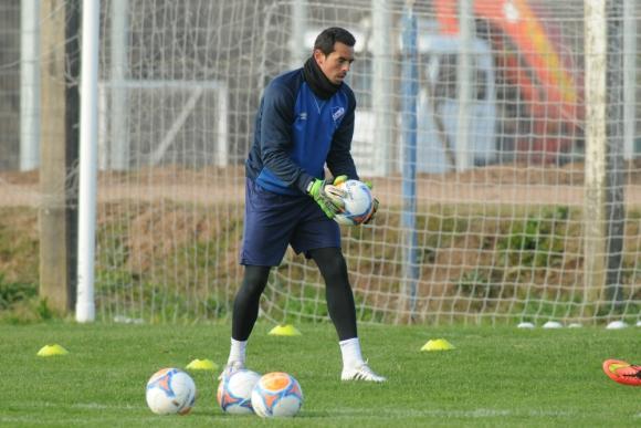 Esteban Conde en el entrenamiento en Los Céspedes. Foto: Francisco Flores