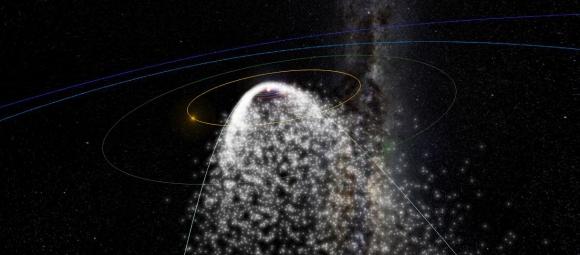 Lluvia de estrellas en un interactivo de la NASA. Foto: https://www.meteorshowers.org/