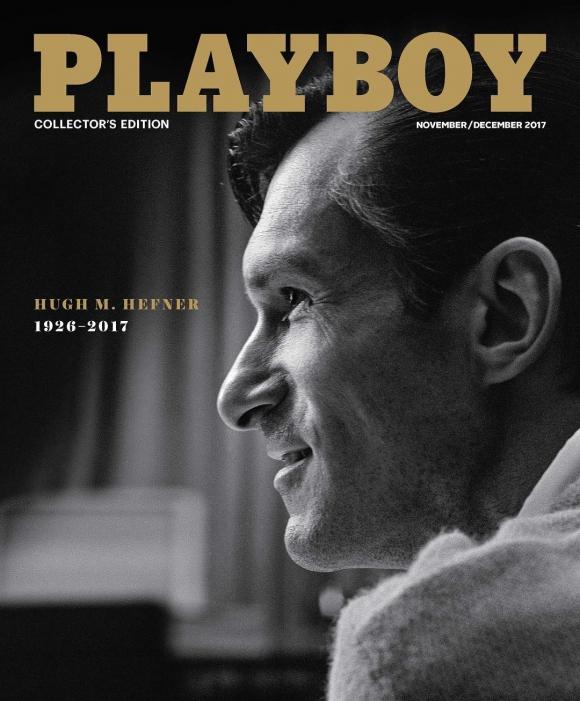 Hugh M. Hefner, el primer hombre en ser tapa Playboy. Foto: Instagram