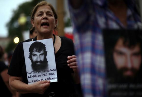 Santiago Maldonado. Foto: Reuters