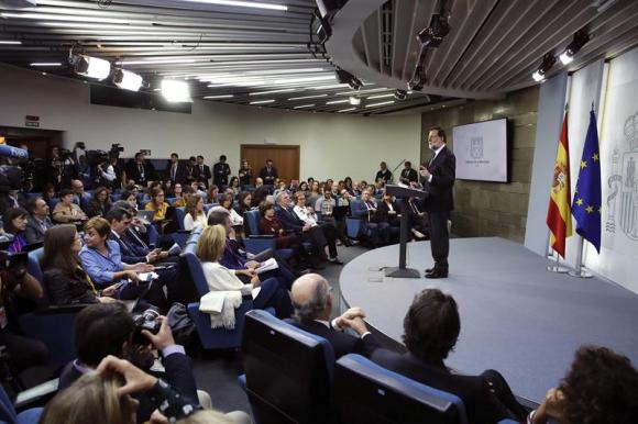 Mariano Rajoy en conferencia de prensa. Foto: EFE