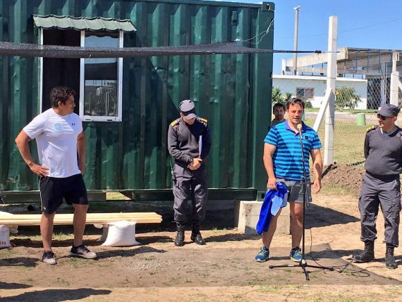 Inauguración de la cancha de rugby en Santiago Vázquez. Foto: @RugbyUruguay.