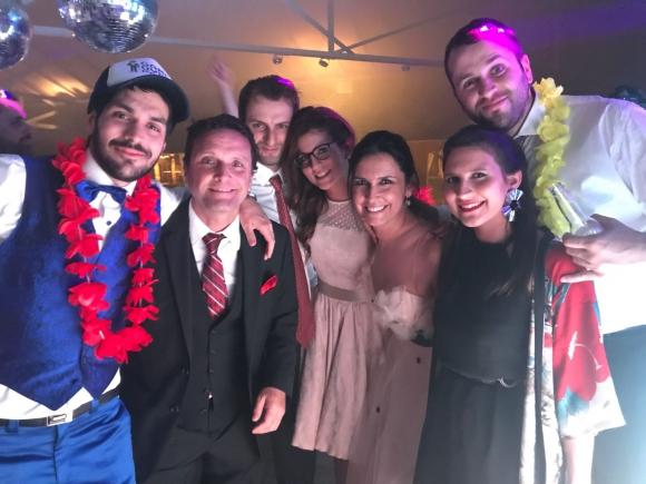 Fabiana Goyeneche en la boda de Natalie Yoffe y Andrés Ojeda